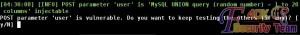 user表单注入漏洞