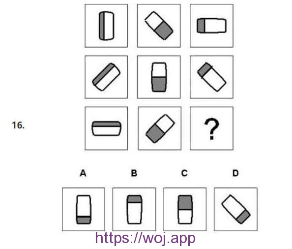 图形推理第十六题