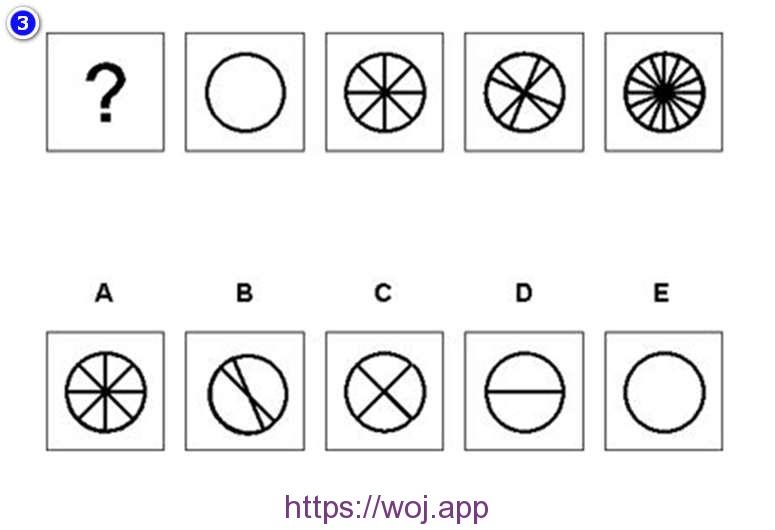 图形推理测试第三题