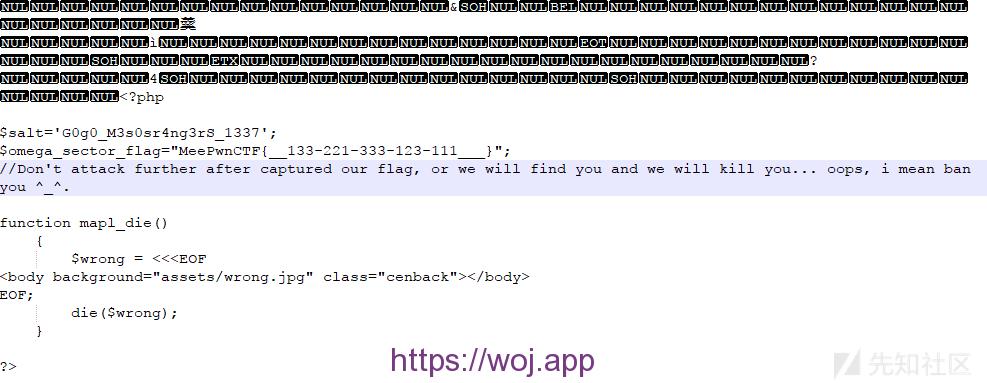 linux 通配符解题 301得答案