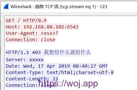 修改后的图二 因为http/0.9的关系返回内容变为header